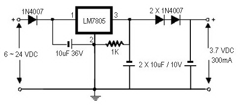 > circuits > how to convert a 9v battery to 3 7v l46196