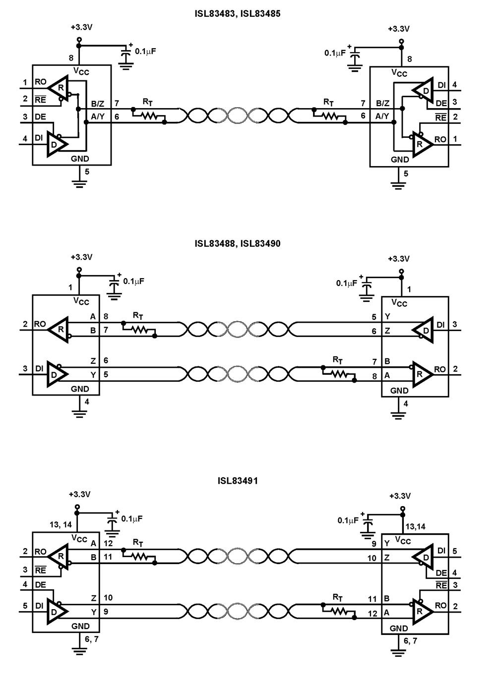 medium resolution of rs 422 circuit diagram wiring diagram priv rs 485 communication circuit diagram isl83490 3 3v full