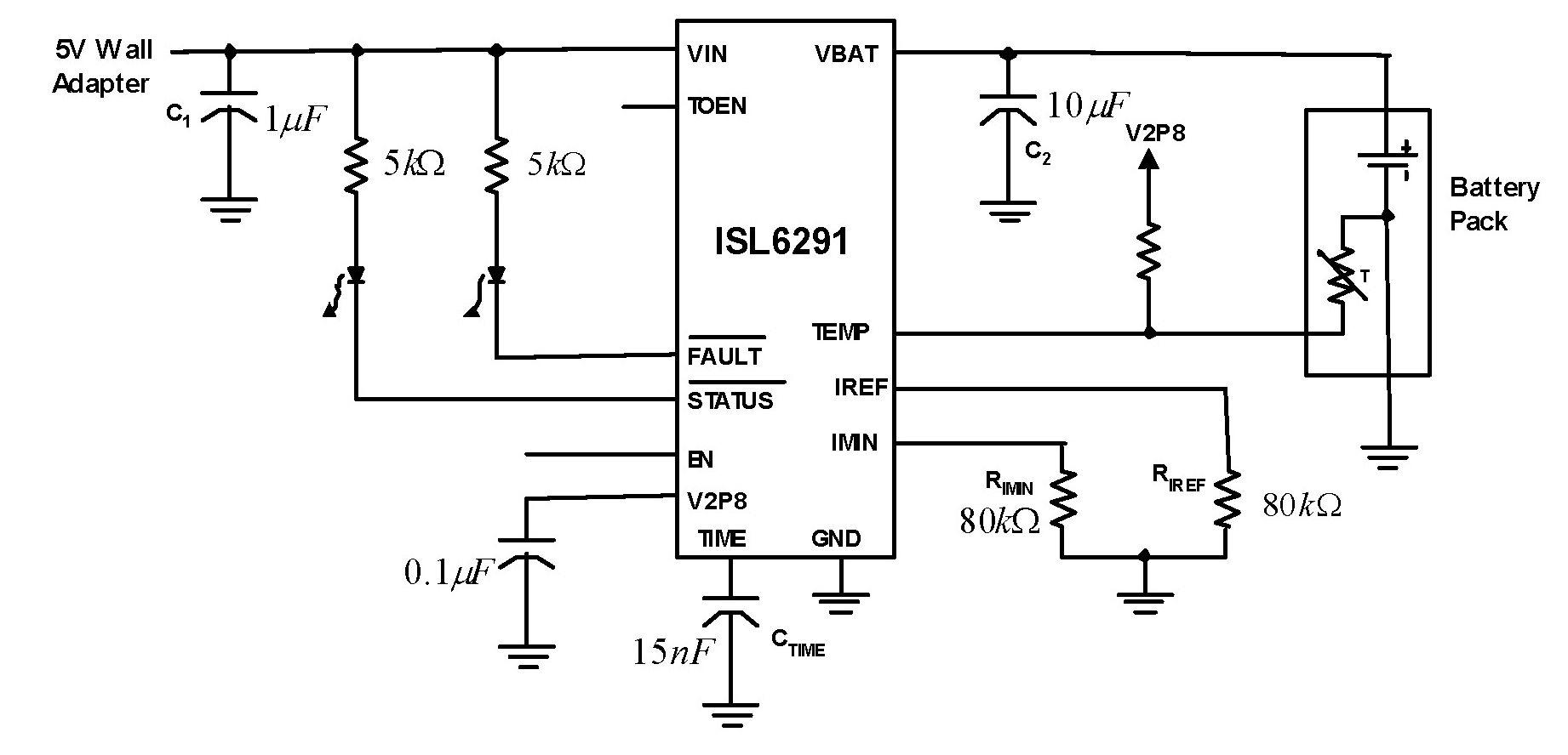 > circuits > ISL6291 Li ion Li Polymer Linear Battery