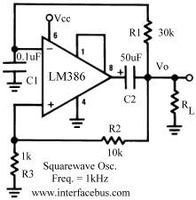 square wave oscillator circuit Page 3 : Oscillator