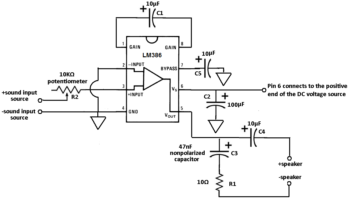 LM386 Audio Amplifier Chip under Repository-circuits