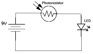 Simple Photoresistor Circuit under Repository-circuits