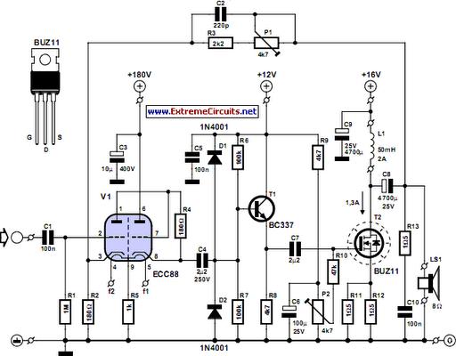 Simple Hybrid Audio Amplifier