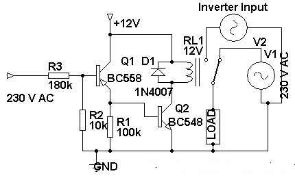230 Volt AC To Inverter SwitchingCircuit under Repository