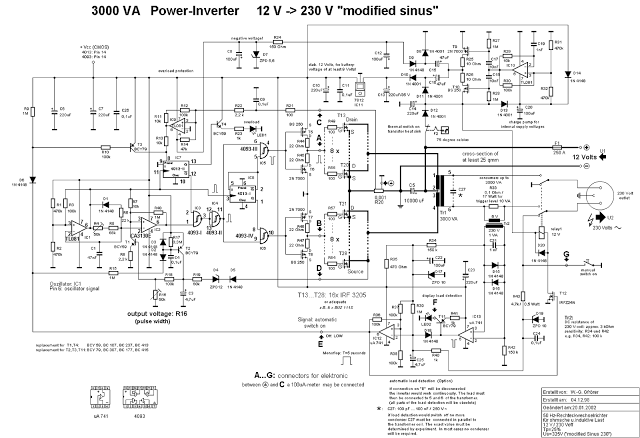 1000 watt inverter circuit diagram toyota 3sgte wiring page 6 power supply circuits next gr 3000 12v dc to 230v ac