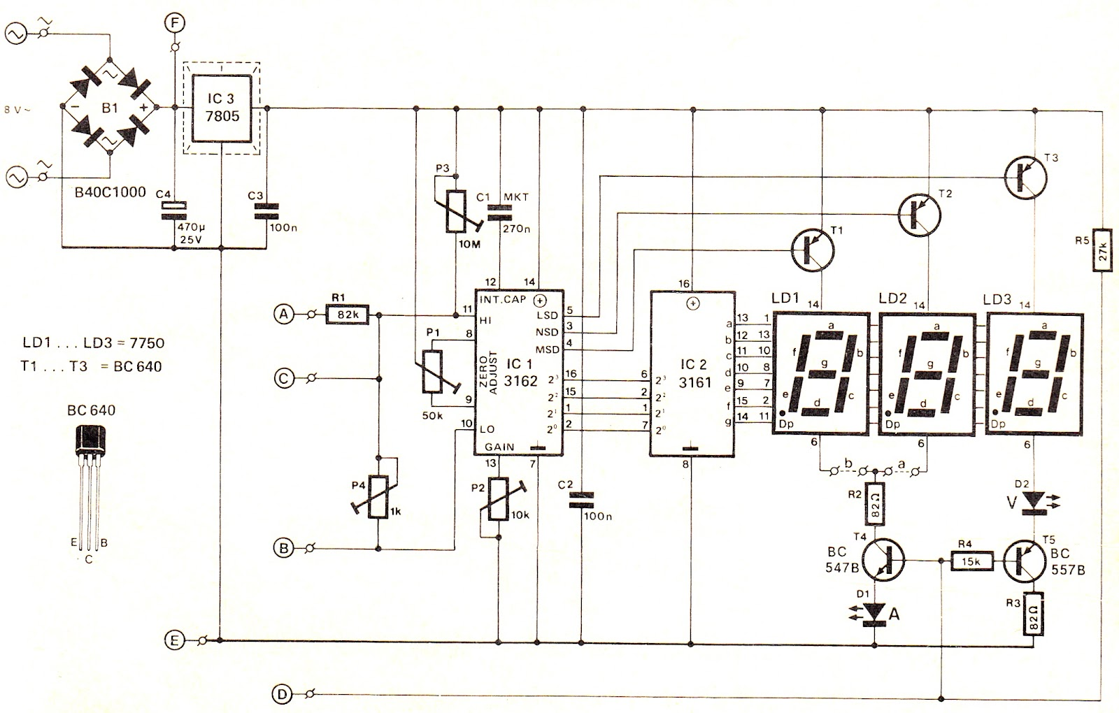 digital meter wiring diagram kicker comp gt circuits voltmeter and ammeter circuit module