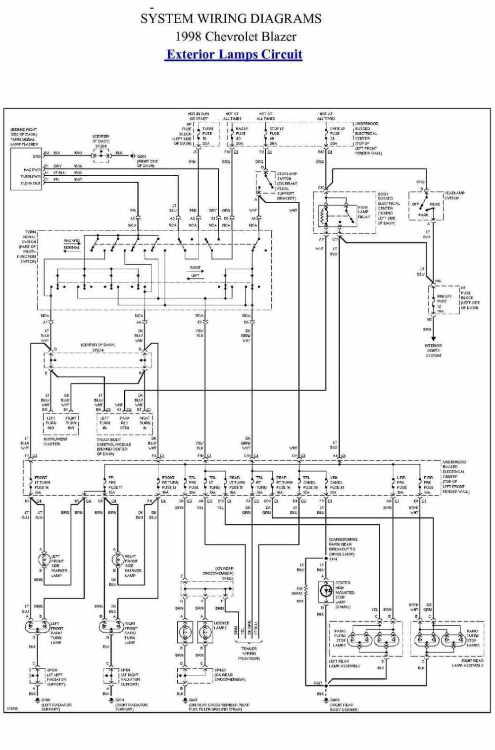medium resolution of 98 chevy headlight wiring diagram 33 wiring diagram