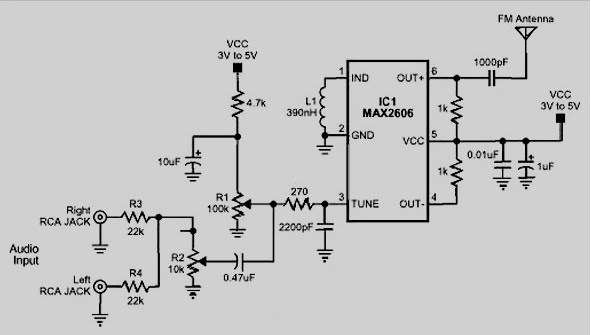 fm transmitter 88 108mhz ic under Repository-circuits