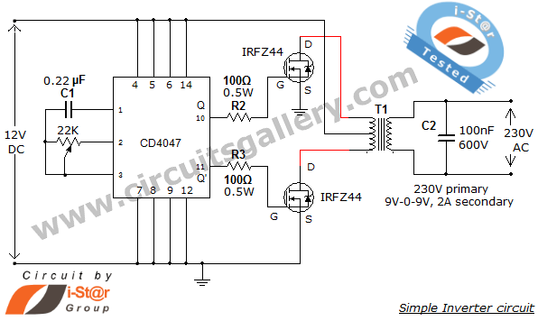 1000 watt inverter circuit diagram dux hot water system wiring page 6 power supply circuits next gr simple low 12v dc to 230v or 110v ac using
