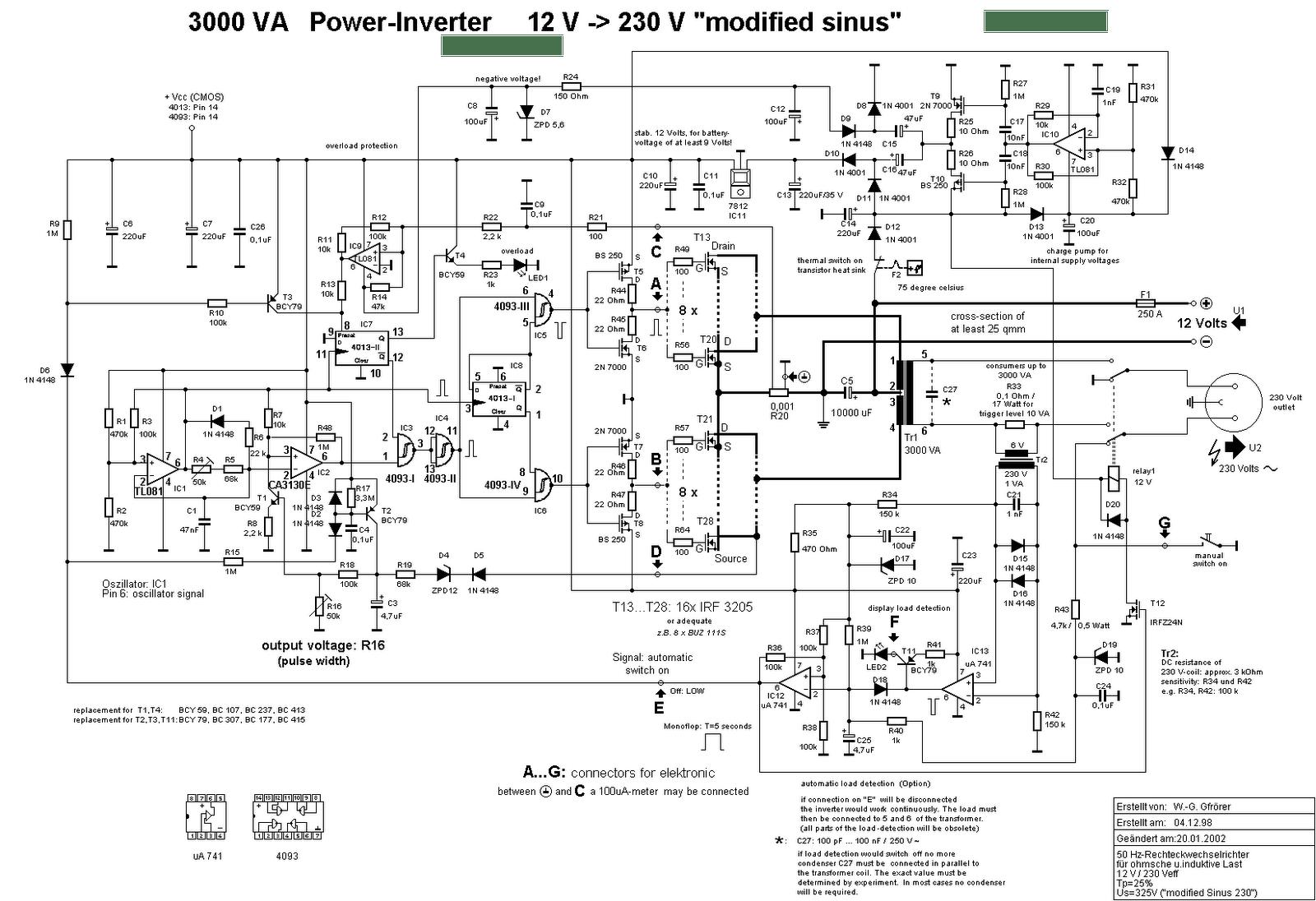 circuit diagram sine wave 24v 230v ac