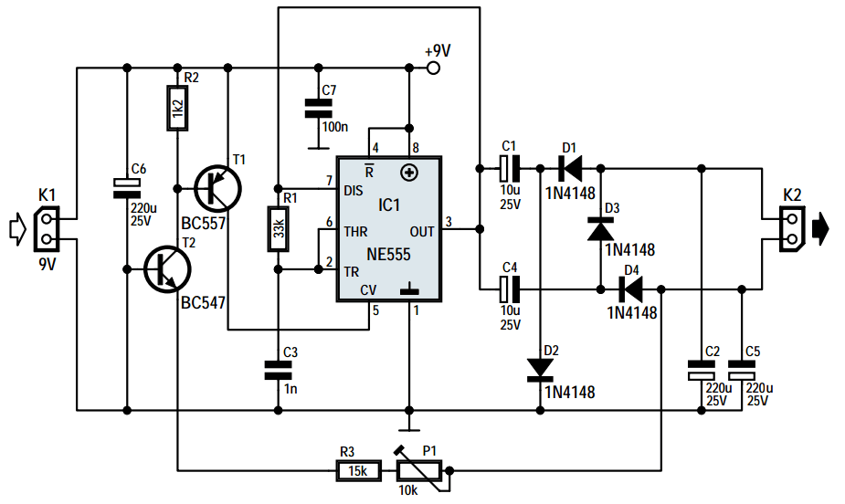 12 Volt To 230 Inverter Circuit Diagram Using Ic 555