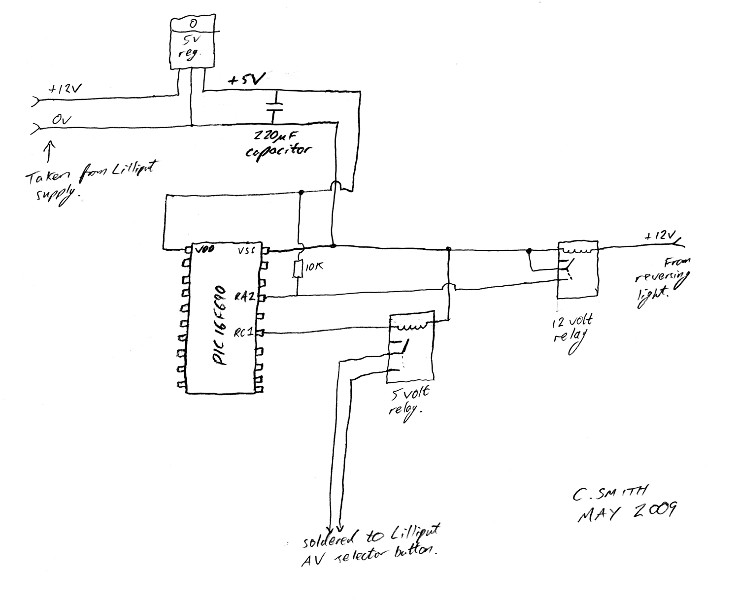 reversing camera wiring diagram viessmann boiler diagrams gt circuits lilliput auto video switching for