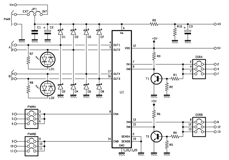 simple doorbell circuit diagram 3d shapes venn worksheet > circuits arduino motor shield l48095 - next.gr