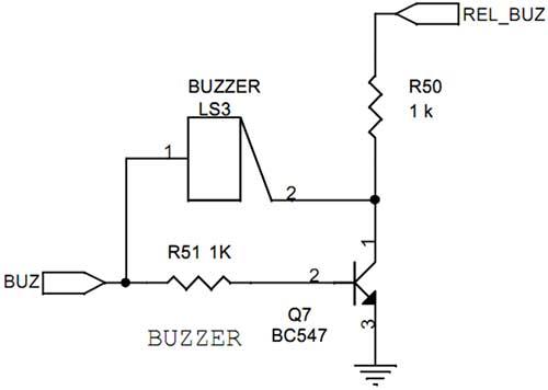 trembling sound buzzer circuit