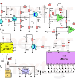 rf remote control switch rx tx circuits this circuit  [ 1400 x 1073 Pixel ]