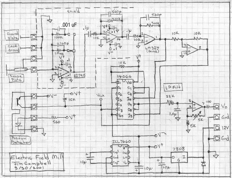 Electric Field Mill Fabrication under Repository-circuits