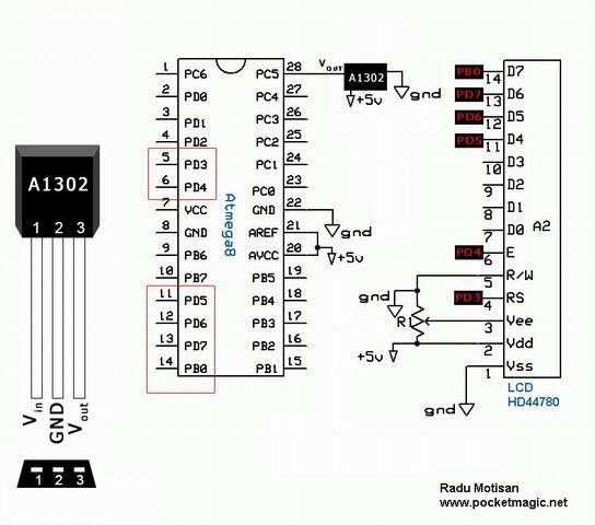 ATmega8 and Hall Sensor A1302 under Repository-circuits