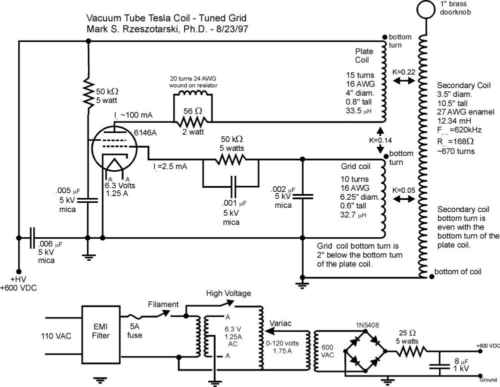 medium resolution of miniature vacuum tube tesla coil