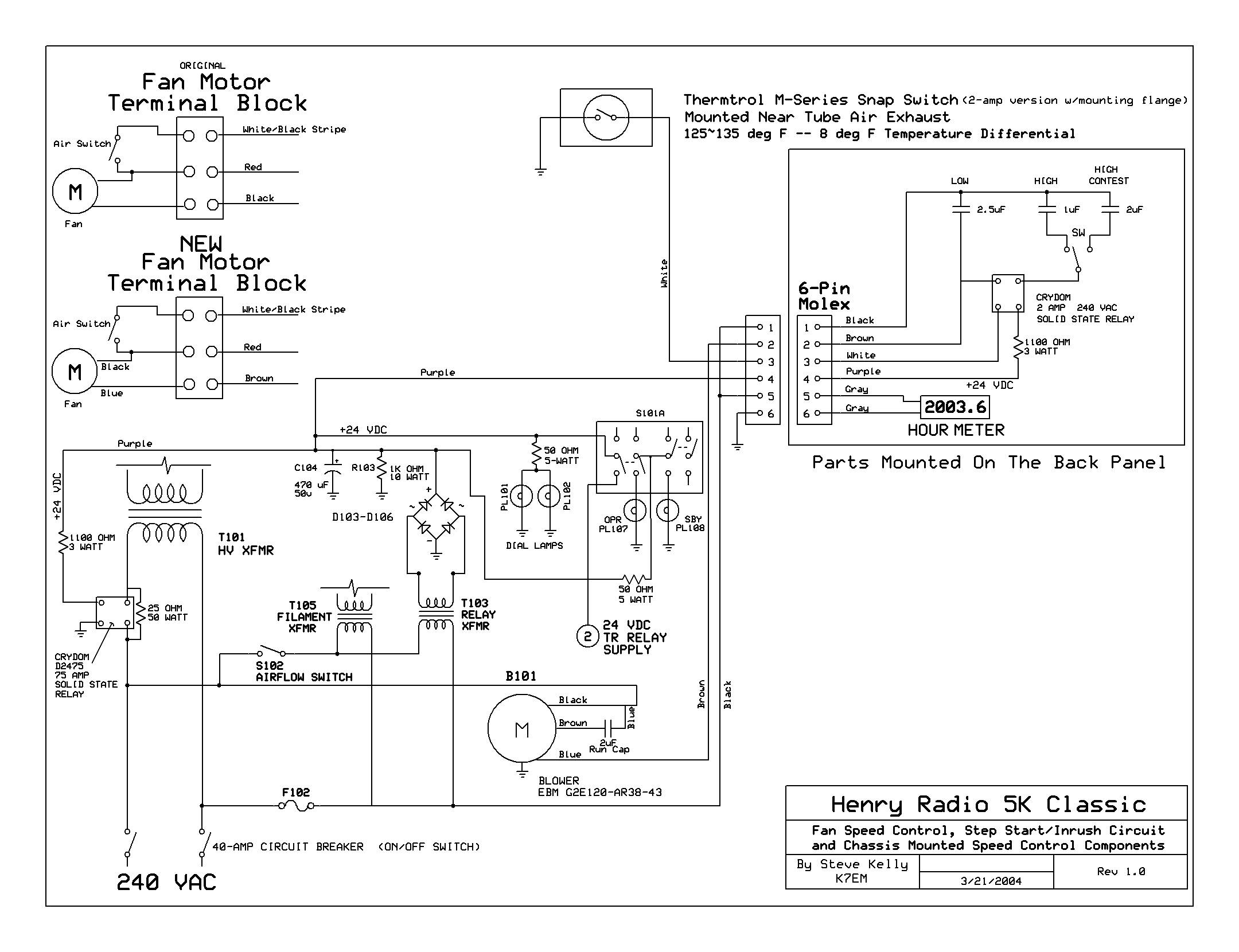 fan control center relay and transformer wiring diagram what is a mapping henry radio 5k classic blower modifications repository