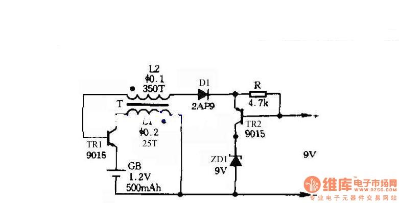 Self-control digital inverter power supply circuit diagram