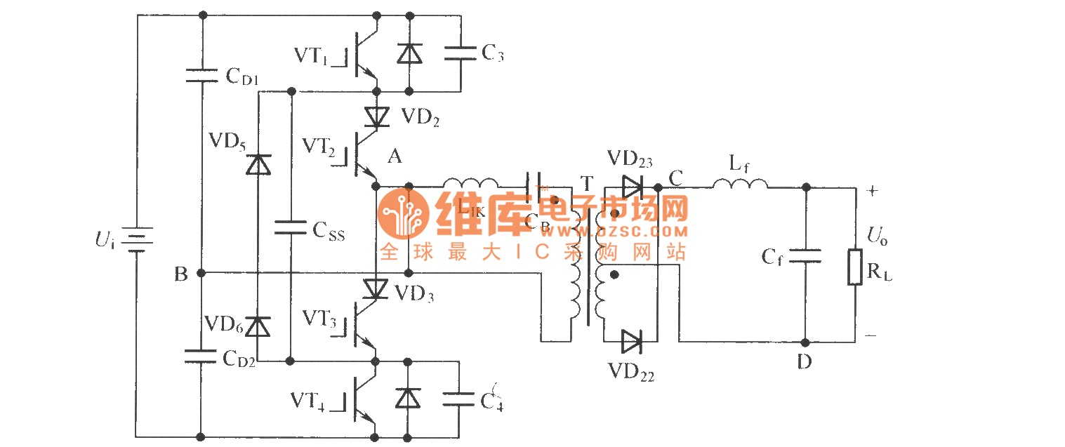 hight resolution of zero voltage zero current switch three level dc converter