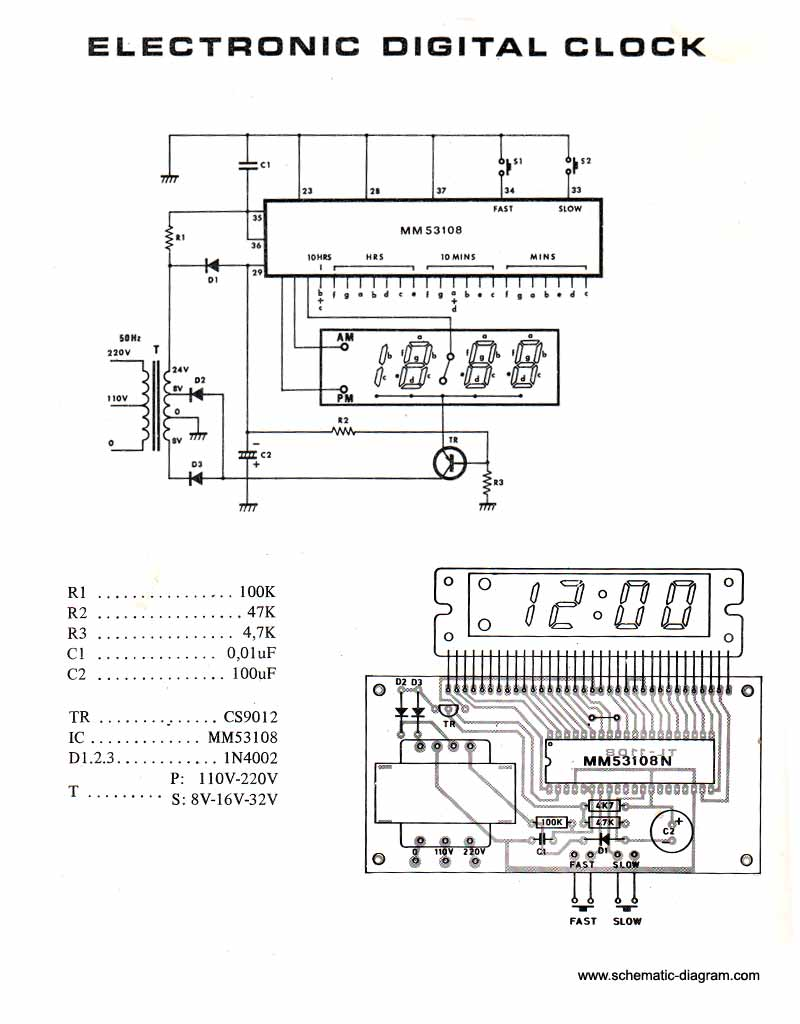hight resolution of electronic digital clock circuit