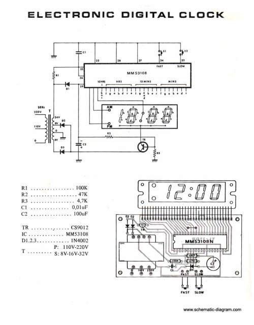 small resolution of electronic digital clock circuit