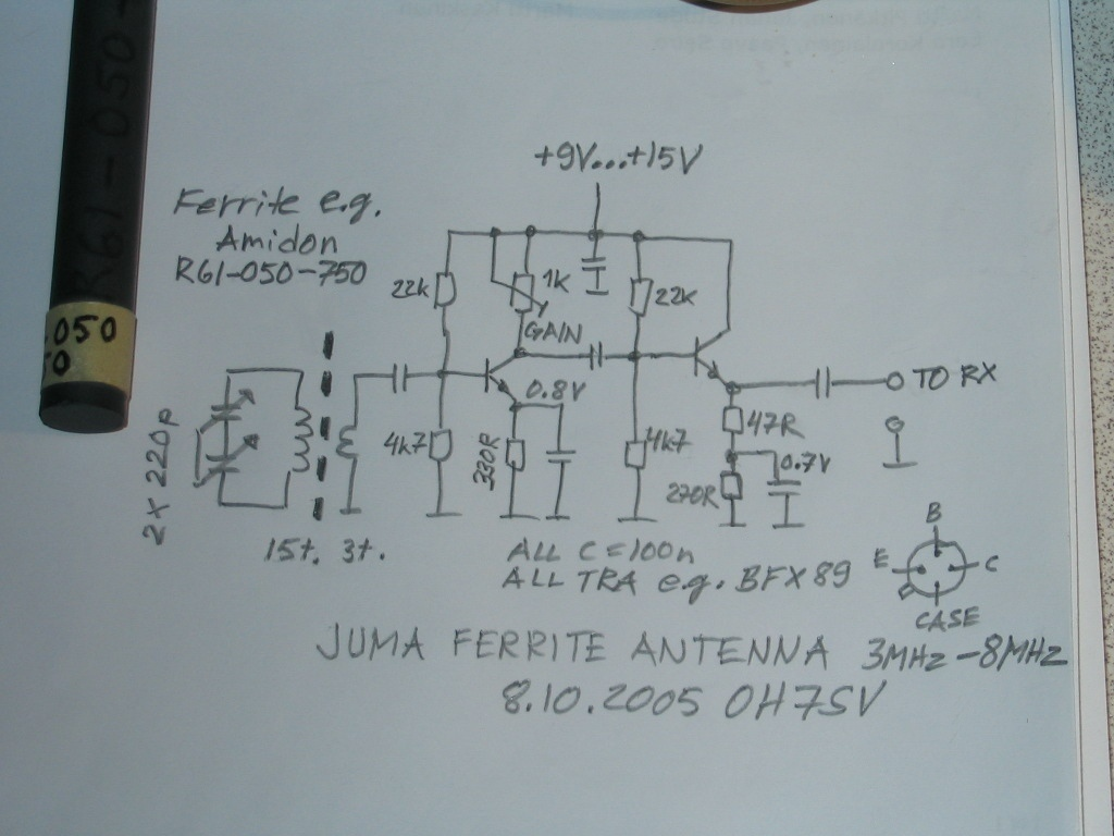 Am Fm Sw Active Antenna Circuit