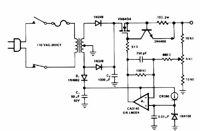 14 Volt Battery Charger Circuit Schematic Diagram under