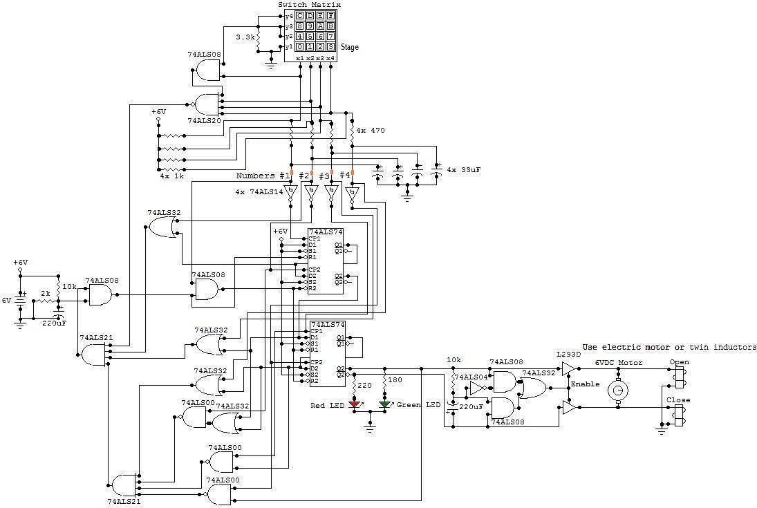 door lock circuit Page 2 : Security Circuits :: Next.gr