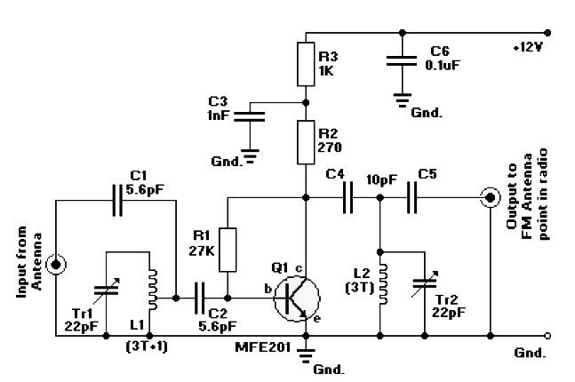 5 watts fm rf amplifier