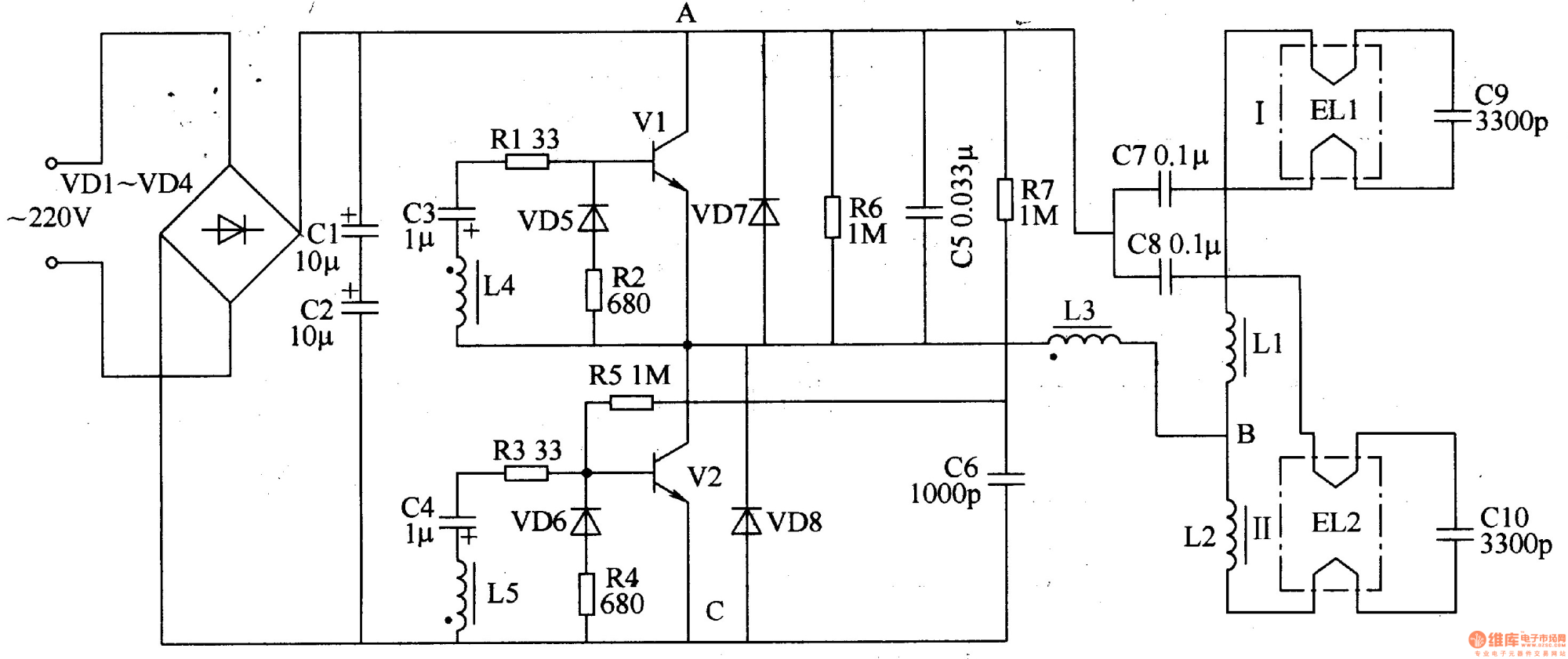 hight resolution of fluorescent circuit page 3 light laser led circuits next gr 20w fluorescent lamp electronic ballast circuit diagram powersupply