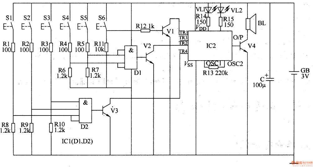 medium resolution of three tone electronic doorbell 2