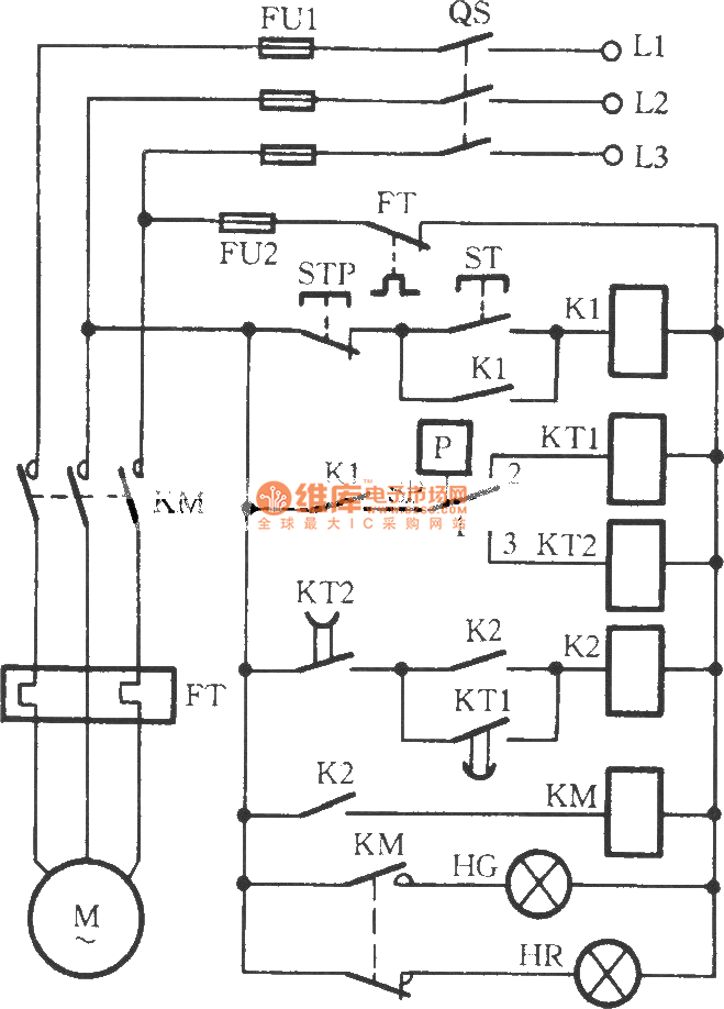 The series connecting control circuit of electric contact