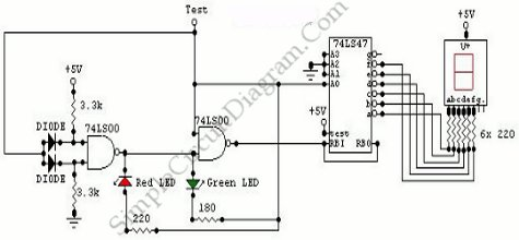 > circuits > Logic Probe with Seven Segment Display l52678