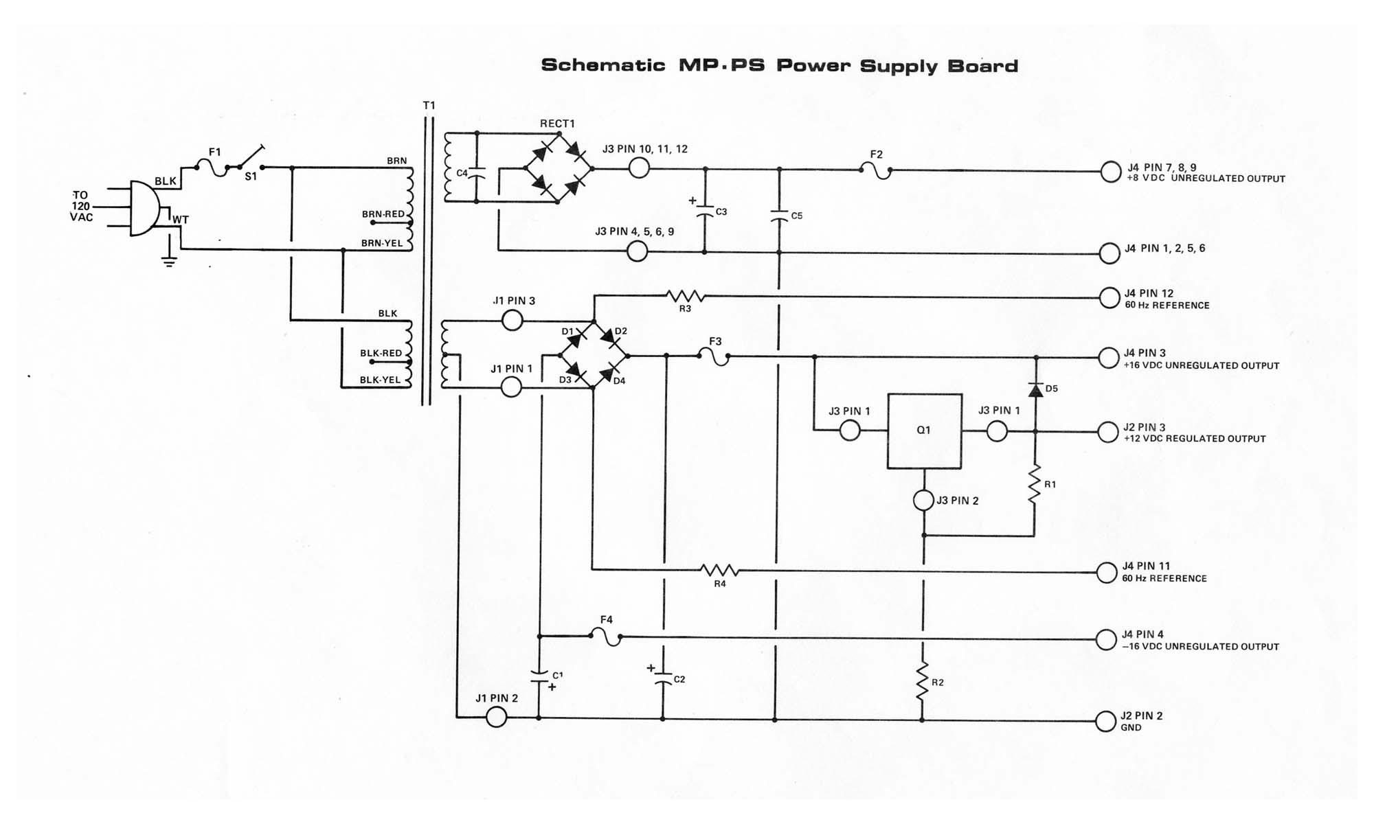 Pc Power Supply Wiring Diagram