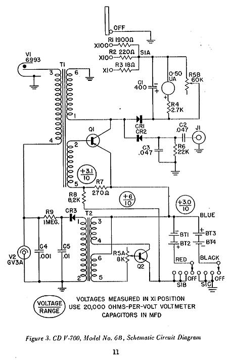 Victoreen Model CD V-700 Schematic Diagram