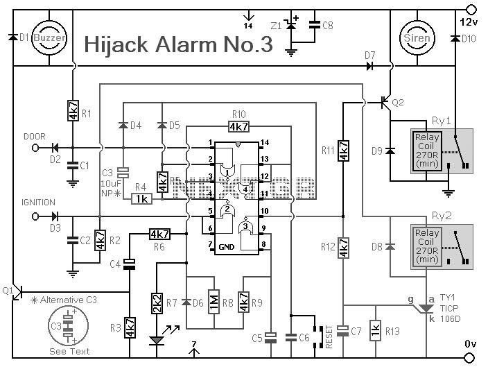 vehicle anti hijack alarm no3