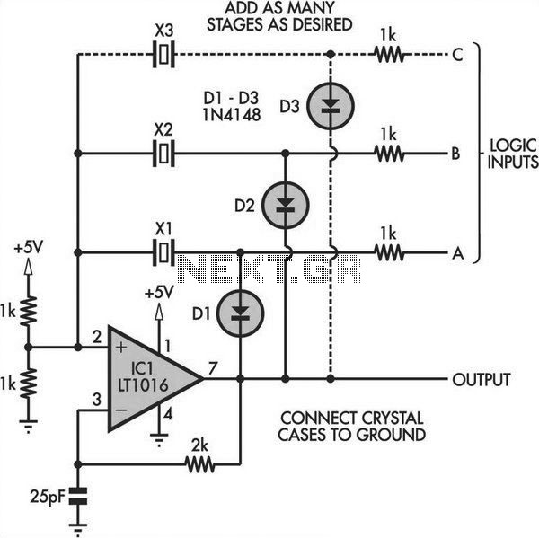 switchable output crystal oscillator