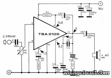 7W Audio Amplifier based TBA810
