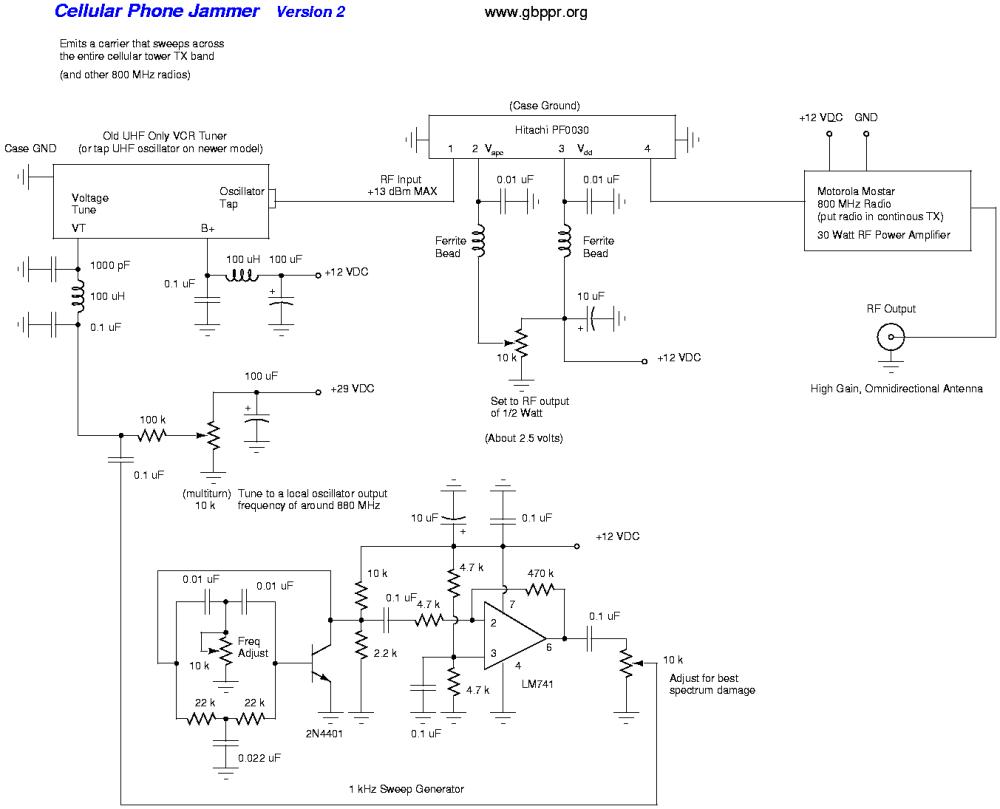 medium resolution of cell phone jammer schematic