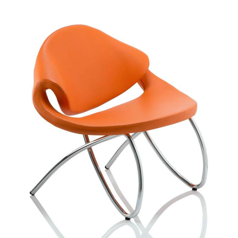 Beau Visitor Chair Orange With Arms