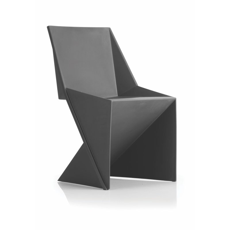 Freedom Visitor Stacking Chair Charcoal Polypropylene