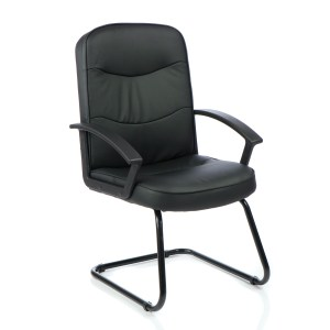 Harley Cantilever Black Leather With Arms