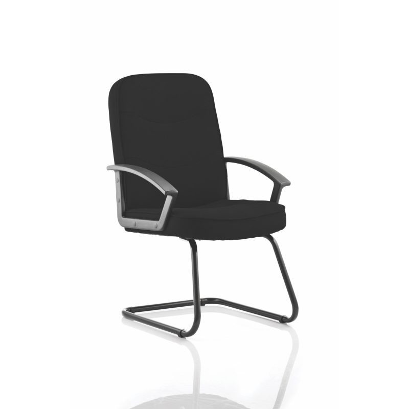 Harley Cantilever Black Fabric With Arms