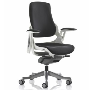 Zure Executive Chair Black Fabric With Arms