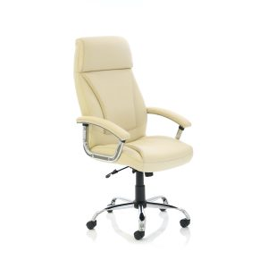 Penza Executive Cream Leather Chair