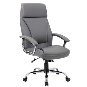Penza Executive Grey Leather Chair