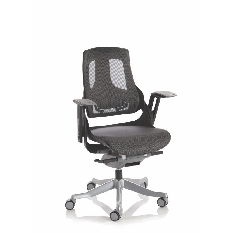 Zure Executive Chair Black Frame Charcoal Mesh