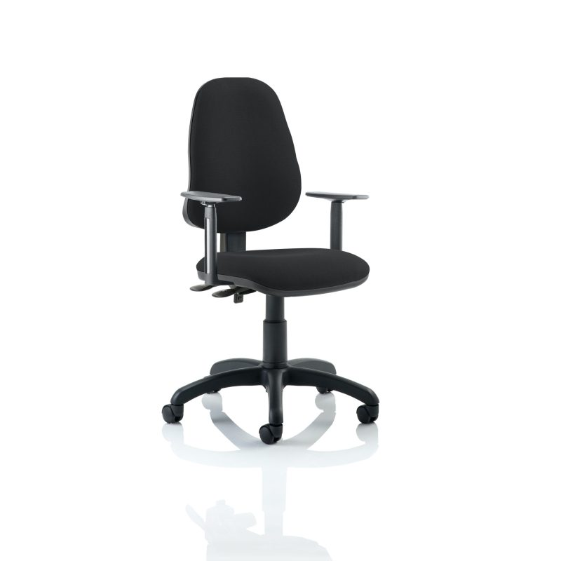 Eclipse II Lever Task Operator Chair Black With Height Adjustable Arms